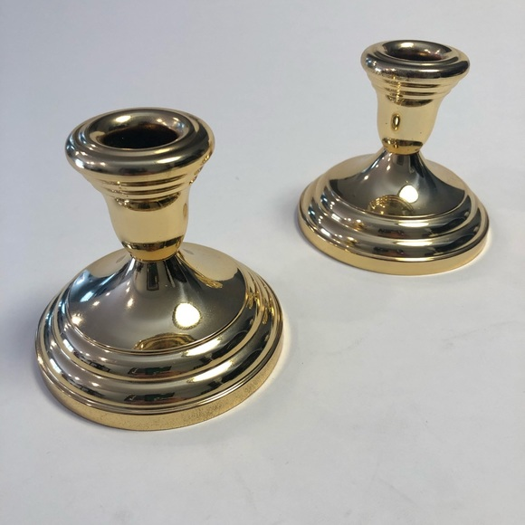 Vintage pair -F.B. Rogers siverplated candeholders